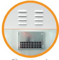 """filtr wetylacji powietrza w szafach 19"""" IP"""
